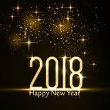 Happy New Year 2018 background with gold glitter Royalty Free Stock Images