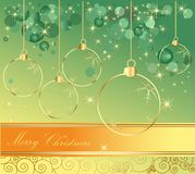 Happy New Year background. Gold and green Royalty Free Stock Images