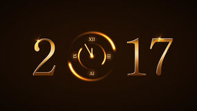 Happy New Year background gold Stock Photography