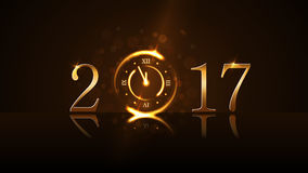 Happy New Year background gold Royalty Free Stock Image