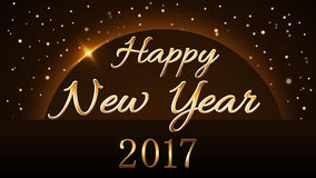 Happy New Year background gold 2017 Royalty Free Stock Image
