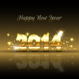 Happy New Year background. With a gold metallic design Royalty Free Stock Photography