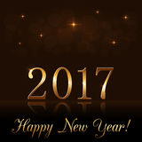Happy New Year background gold 2017 Royalty Free Stock Photo