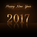 Happy New Year background gold 2017 Stock Images