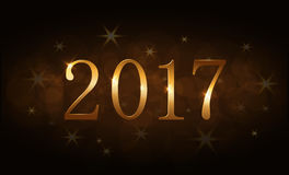 Happy New Year background gold 2017 Royalty Free Stock Photos