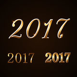 Happy New Year background gold 2017 Royalty Free Stock Photography