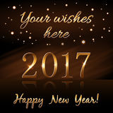 Happy New Year background gold rain Stock Images