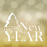 Happy New Year background. Golden Happy New Year background stock illustration