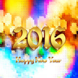 Happy new year background. With golden text vector illustration Royalty Free Stock Photo