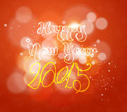Happy new year background. And greeting card design Stock Images