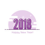 2018 Happy new year background. Stock Photo