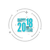 2018 Happy new year background Stock Photo