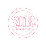 2018 Happy new year background Stock Image
