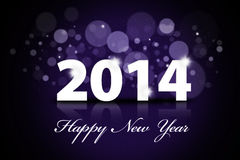 Happy New Year 2014 background. Happy new year 2014 greeting card template Stock Photos