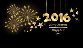 Happy New Year. Background with year 2016 greetings royalty free illustration
