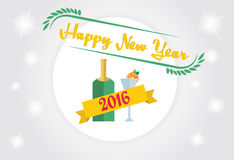 2016 Happy New Year Background. For greetings cards, invitations, and so on Vector Illustration