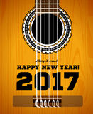 Happy New Year on the background of guitars and strings. Vector illustration Stock Image