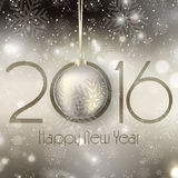 Happy New Year background with hanging bauble. Happy New Year background with a hanging bauble Royalty Free Stock Photo