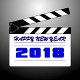 Happy new year 2018 with background. Happy new year background and celebrate ;design for new year 2018 Stock Photo