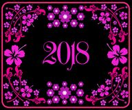 Happy new year 2018 with background. Happy new year background and celebrate ;design for new year 2018 Royalty Free Stock Image