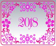 Happy new year 2018 with background. Happy new year background and celebrate ;design for new year 2018 Stock Image