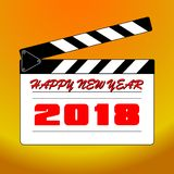 Happy new year 2018 with background. Happy new year background and celebrate ;design for new year 2018 Stock Photos
