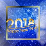 Happy New Year 2018 background Royalty Free Stock Images