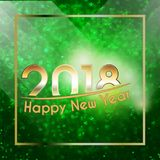 Happy New Year 2018 background Royalty Free Stock Photography