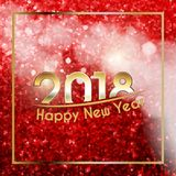 Happy New Year 2018 background Stock Photos