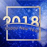 Happy New Year 2018 background Stock Images