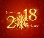 2018 Happy New Year Background Royalty Free Stock Photography