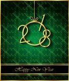2018 Happy New Year background. 2018 Happy New Year background for invitations, festive posters Stock Photos