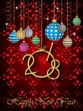 2018 Happy New Year background. Stock Images