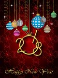2018 Happy New Year background. 2018 Happy New Year background for your invitations, festive posters, greetings cards Stock Photos