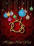 2018 Happy New Year background. 2018 Happy New Year background for your invitations, festive posters, greetings cards Stock Photo