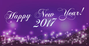 Happy New Year background. Holiday Vector Illustration. Composition With Stars Royalty Free Stock Photos