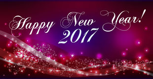 Happy New Year background. Holiday Vector Illustration. Composition With Stars Royalty Free Stock Image
