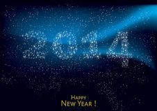 Happy new Year 2014. Background illsutration, vector Stock Photography