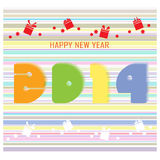 Happy new year 2014  background. Happy new year 2014 background, illustration Stock Photos