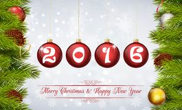 Happy New Year 2016 background Stock Image