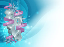 Happy New Year 2014 Background. Illustration of a Happy New Year 2014 background in blue. Illustration framing copyspace Royalty Free Stock Photo