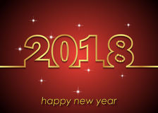 2018 Happy New Year background. 2018 Happy New Year background for invitations, festive posters Stock Image
