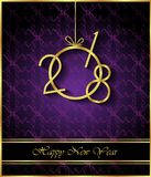 2018 Happy New Year background. 2018 Happy New Year background for invitations, festive posters Royalty Free Stock Photography