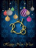 2018 Happy New Year background. 2018 Happy New Year background for invitations, festive posters Royalty Free Stock Image