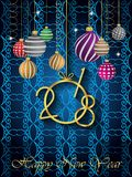 2018 Happy New Year background. 2018 Happy New Year background for invitations, festive posters Stock Images