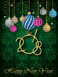 2018 Happy New Year background. 2018 Happy New Year background for invitations, festive posters Royalty Free Stock Photo