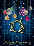 2018 Happy New Year background. 2018 Happy New Year background for invitations, festive posters Royalty Free Stock Images