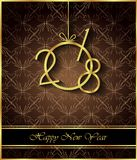 2018 Happy New Year background. 2018 Happy New Year background for invitations, festive posters Stock Photo