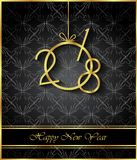 2018 Happy New Year background. 2018 Happy New Year background for invitations, festive posters Stock Photography
