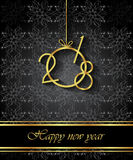 2018 Happy New Year background. Royalty Free Stock Photos